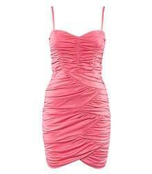 Pink Spaghetti Strap Sexy Fitted Dress