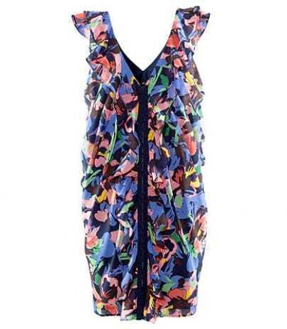 Chiffon Floral V Neck Tank Hot Dress