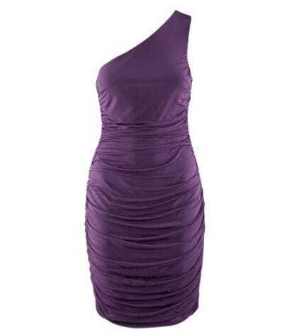 Purple One-shoulder Fitted Sexy Party Dress