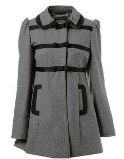 Bow Grey Woolen coat