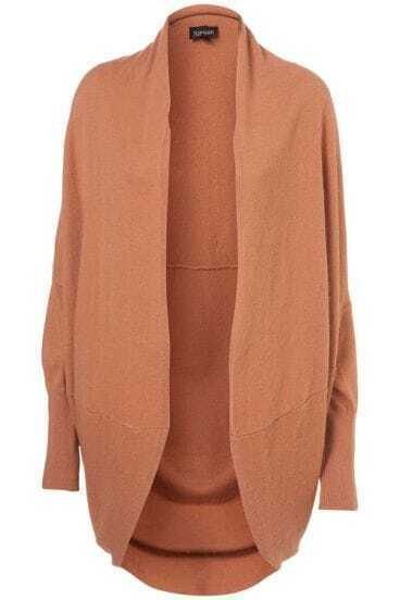 Loose Shawl Camel Casual Sweater