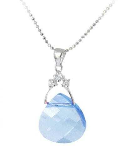 Blue Round Handbag Crystal Pendant