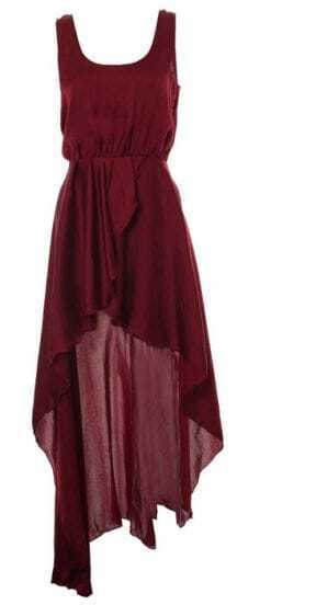 Chiffon Swallowtail Red Street Dress