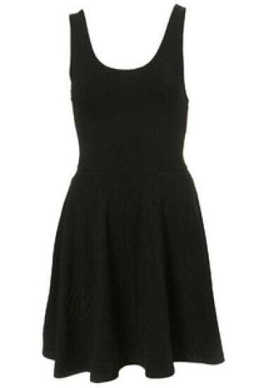 Black Backless Spaghetti Strap Dress