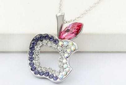 Multicolor Diamond Hollow Apple Red Swarovski Austria Crystal Pendant