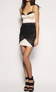 Black and White Spaghetti Strap Party dress