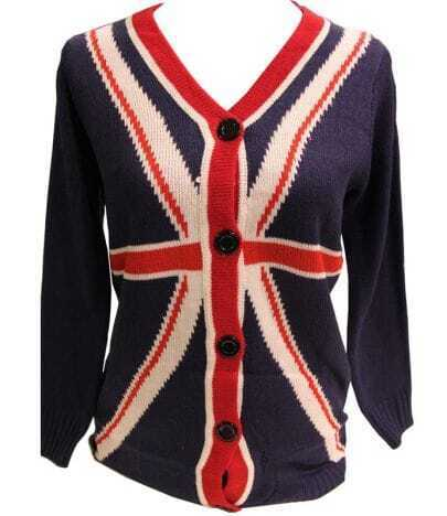 England flag printed sweater