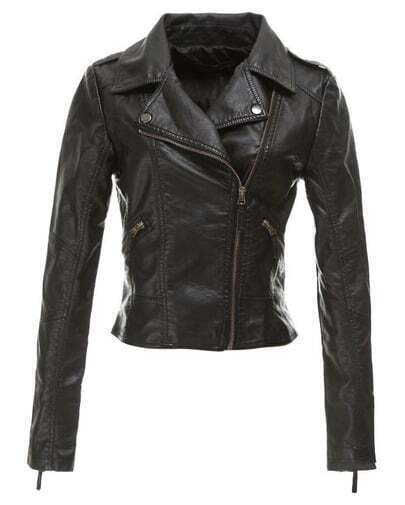 Black Soft PU Slim Jacket