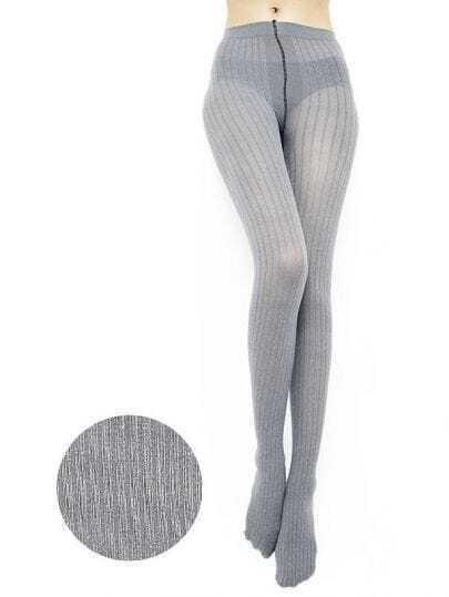 Strips Grey Tights