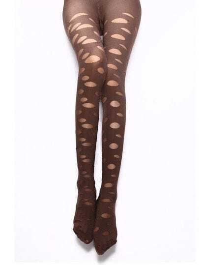 Hollow Sexy Coffee Tights