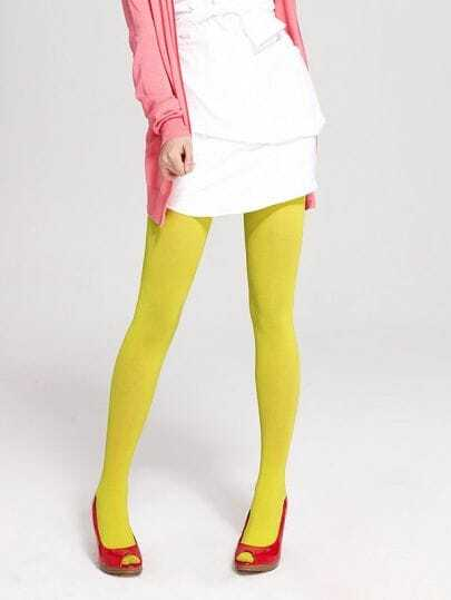 Yellow Candy Style Velvet Tights
