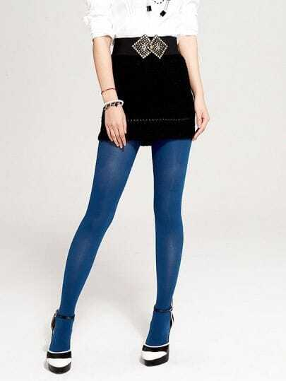 Cyan Candy Style Velvet Tights
