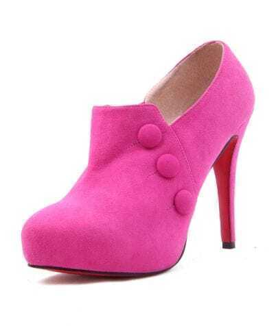 Rose red Suede 120mm Ankle Boot