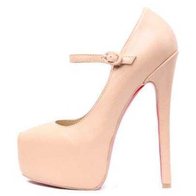 Light Pink 160mm Daffodile Leather Pump