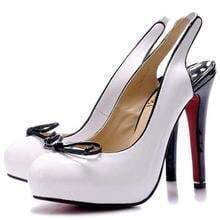 White Round Toe Slingback Sandal
