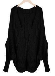 Black Batwing Cape Cardigan Loose Sweater