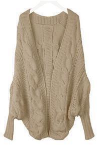 Camel Batwing Cape Cardigan Loose Sweater