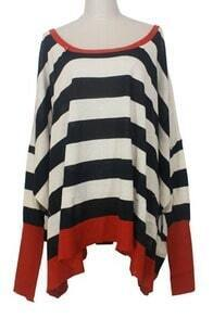Black White Stripes Bat Sweater