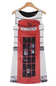 Telephone Chiffon Tank Cute Dress