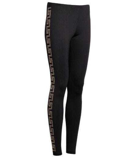 Black Side Pattern Leggings