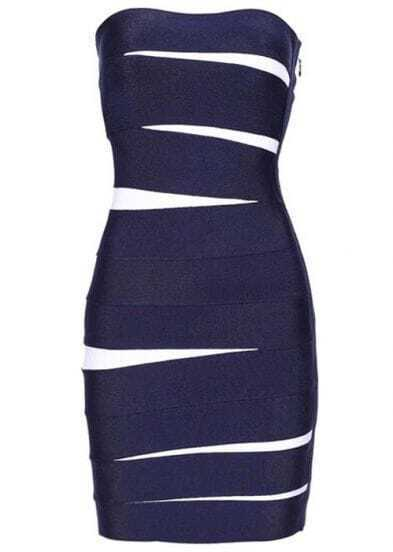 Low-Cut Dress Blue h004b6