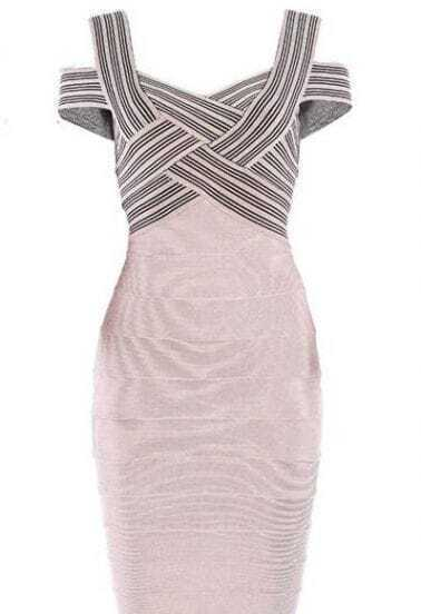 Powdered Rose Bandage Dress H169X