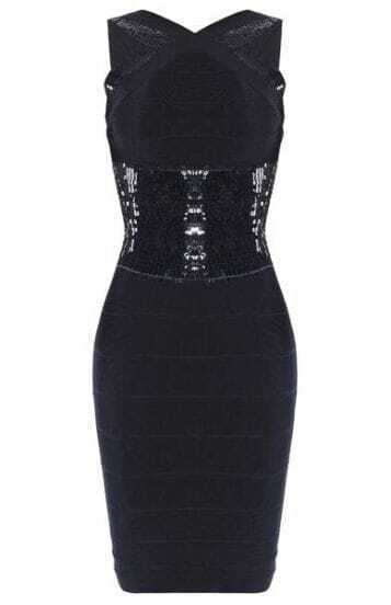 Back-Cutout Reversible Bandage Dress h187H