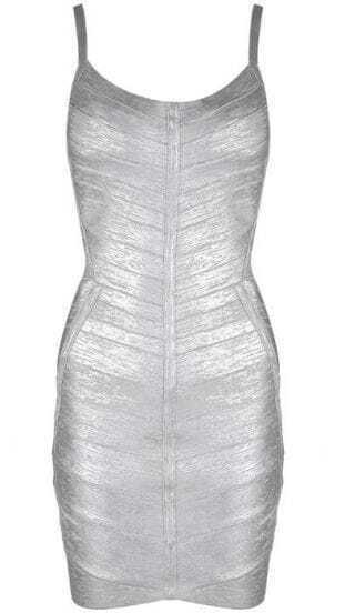 Metallic Bandage Dress H217S