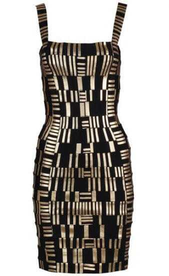 Printed Bandage Dress H218E