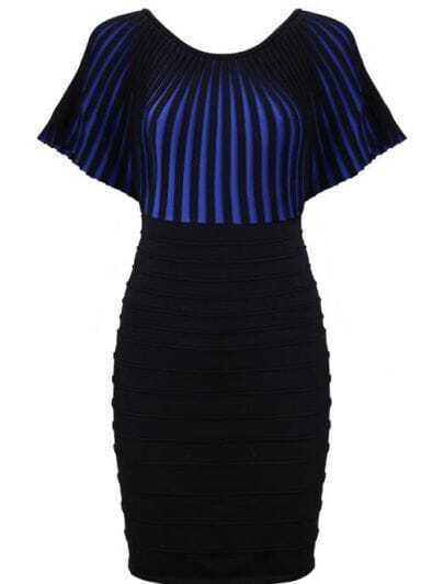 Black and Blue Bandage Dress N004E