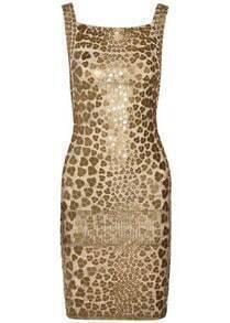 Pailette-Embellished Bandage Dress H40J