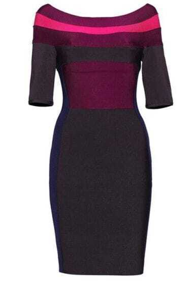 Color Block Dress H054E
