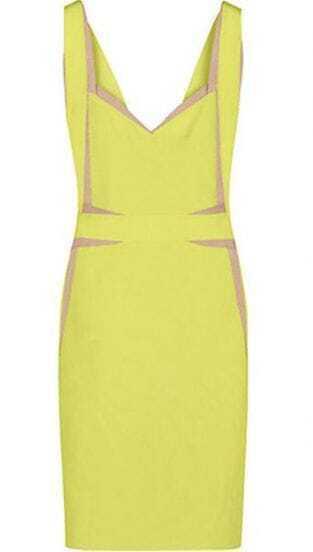 Sleeveless Bandage Dress Crimson H056Y