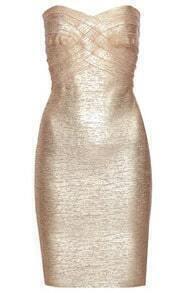 Metallic Strapless Dress H109J