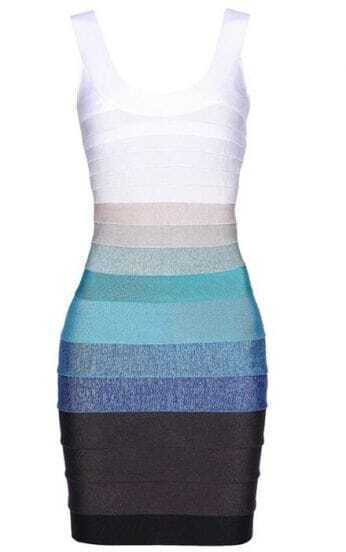 Ombre Bandage Dress H151E