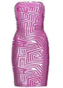 Alexa Jacquard Bandage Dress H158F1
