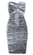 Woodgrain Strapless Bandage Dress H160E