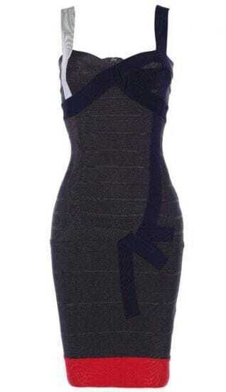 Color-Block Bandage Dress H173W