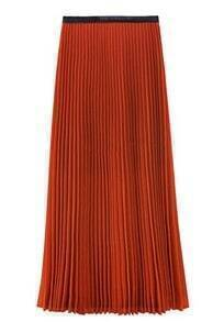 Pleated Vintage Orange Skirts