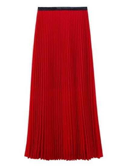 Pleated Vintage Red Skirts