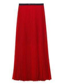 Pleated Vintage Red Skirts