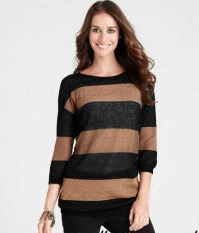Striped loose Pullovers