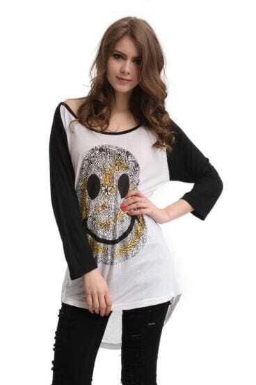 Three Quarter Length Sleeve T-shirt