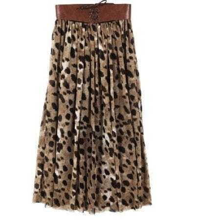Leopard Full-Length Skirt