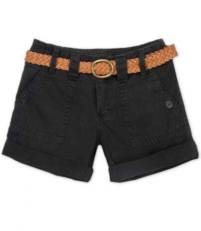 Casual Tooling Waist Shorts Black