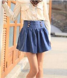 Vintage Navy Pantskirt Blue