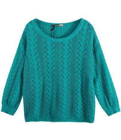 Vintage Pattern Sweater Green
