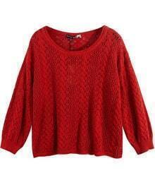 Vintage Pattern Sweater Red