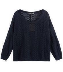 Vintage Pattern Sweater Blue