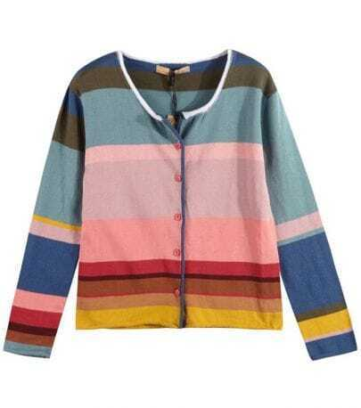 Colourful Striped Sweater